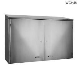 "Glastender - WCH96 - 96"" Wall Cabinet w/Doors image"