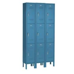 Nexel Industries - PT129ASB - 3-Tier 9-Door Blue Paramount Locker image