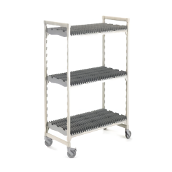 Cambro - CPMU244875DRPKG480 - 24 in x 48 in Mobile Camshelving® Premium Vertical Drying Rack image