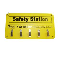 Tucker Safety - 99953 - Wall Mount 5-Clip Safety Station image