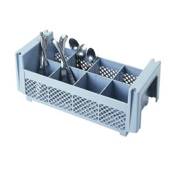 Cambro - 8FBNH434151 - 8 Section Half Size Camrack® Flatware Basket image