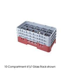 Cambro - 10HS1114 - Camrack 10 Section 11 3/4 in Glass Rack image
