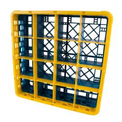 Carlisle - RG16-1C411 - 16 Compartment Opticlean™ Glass Rack W/ Yellow Extender image