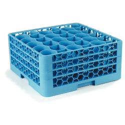 Carlisle - RW30-214 - 30 Compartment OptiClean™ NeWave™ Glass Rack with Integrated Extender image