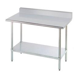 Advance Tabco - KSLAG-246-X - 72 in 16 ga Work Table With Backsplash image