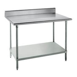 Advance Tabco - KSS-246 - 72 in 14 ga Work Table With Backsplash image