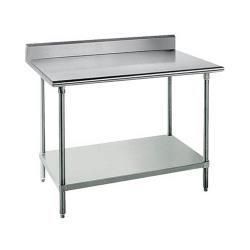 Advance Tabco - WT-PB3060 - 60 in 18 ga Work Table With Backsplash image