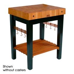 "John Boos - RN-PPB2424C - 24"" x 24"" Cherry Stain Wood Pro Block w/ Casters image"