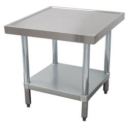 Advance Tabco - SAG-MT-242-X - 24 in x 24 in Stainless Steel Equipment Stand w/ Stainless Steel Undershelf image