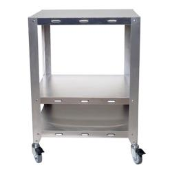 Cadco - OV-HDS - Half And Quarter Size Heavy Duty 2 Oven Stand With Wheels image
