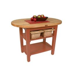 John Boos & Co. - C-ELIP6030175-CR - 60 in Cherry Stain Eliptical Table image