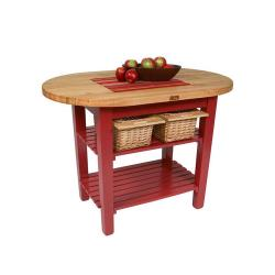 John Boos & Co. - C-ELIP7230175-BN - 72 in Barn Red Eliptical Table image