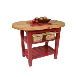 John Boos - C-ELIP4830175-BN - 48 in Barn Red Eliptical Table image