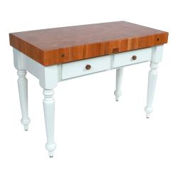 "John Boos - CHY-CUCR05-AL - 48"" Cherry Rustica Table w/ Alabaster Base image"