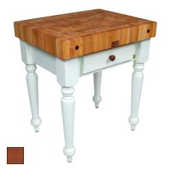 "John Boos - CUCR04-CR - 30"" Cherry Stain Maple Rustica Table image"