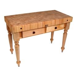 "John Boos - CUCR05 - 48"" Maple Rustica Table image"