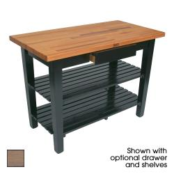 "John Boos - OC4825-D-2S-UG - 48"" Gray Oak Table w/ Drawer & (2) Shelves image"