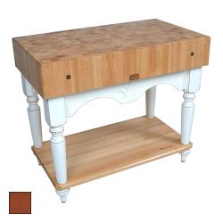 "John Boos - PV-CA-4224-CR - 42"" Cherry Stain Calais Table  image"