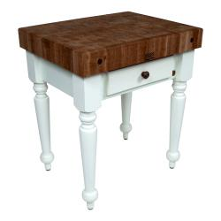 "John Boos - WAL-CUCR04-AL - 30"" Walnut Rustica Table image"