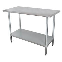Advance Tabco - MS-249 - 108 in x 24 in Stainless Steel Work Table w/ Stainless Steel Undershelf image
