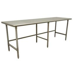 Advance Tabco - TMS-249 - 108 in x 24 in Stainless Steel Work Table w/ Open Base image