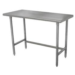 Advance Tabco - TMS-309 - 108 in x 30 in Stainless Steel Work Table w/ Open Base image