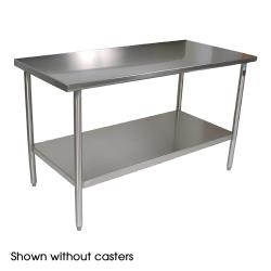 "John Boos - CUCTA03C - Cucina Americana® 60"" x 24"" Tavalo Flat Top Work Table w/ Casters image"