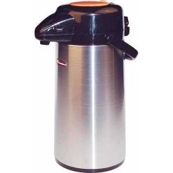 Winco - AP-535DC - 3 L Glass Lined Push Top Decaf Airpot image