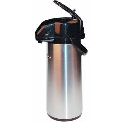 Winco - APSK-730 - 3 L Stainless Steel Lined Airpot with Lever Top image