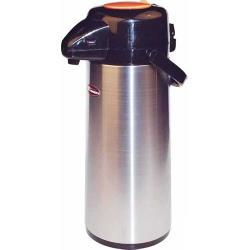 Winco - APSP-925DC - 2 1/2 L Stainless Steel Lined Decaf Airpot with Push Top image