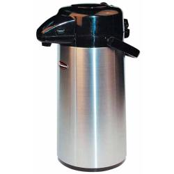 Winco - APSP-930 - 3 L Stainless Steel Lined Airpot with Push Top image