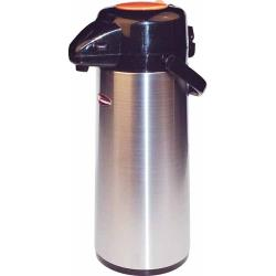 Winco - APSP-930DC - 3 L Stainless Steel Lined Decaf Airpot with Push Top image