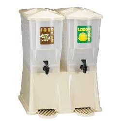 Tablecraft - TW33DPH - 3 Gal Slimline Double Beverage Dispenser image