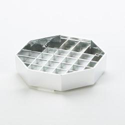 Cal-Mil - 308-4-49 - 4 in x 4 in Chrome Octagon Drip Tray image