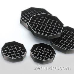 Cal-Mil - 308-6-13 - 6 in x 6 in Black Octagon Drip Tray image