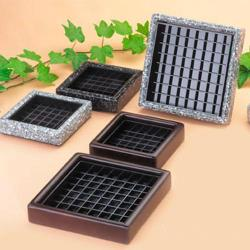 Cal-Mil - 330-4-31 - 4 in x 4 in Black Ice Stone Drip Tray image