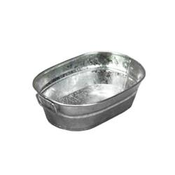 American Metalcraft - MTUB69 - 9 in x 6 in Oval Galvanized Tub image