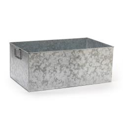 GET Enterprises - GT-2112-GG - 12 in x 20 in Galvanized Rectangular Beverage Tub image