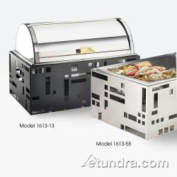 Cal-Mil - 1613-55 - Squared Collection Chafer w/Stainless Base image
