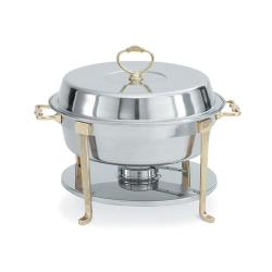 Vollrath - 46030 - Classic Brass 5.8 Qt Round Chafer image