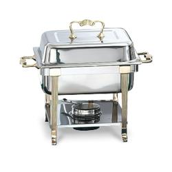 Vollrath - 46035 - Classic Brass 4.1 Qt Rectangular Chafer image