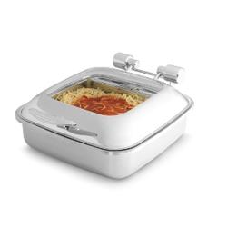 Vollrath - 46135 - Intrigue™ Chafer w/Glass Top & Porcelain Food Pan image