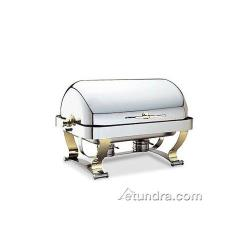 Walco - 54120G - Grandeur™ 8 Qt Roll Top Chafer w/ Gold Accents image