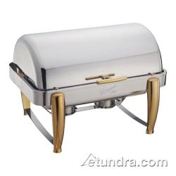 Winco - 101A - Virtuoso 8 qt Chafer w/ Gold Accents image