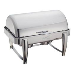 Winco - 101B - Virtuoso 8 qt Chafer with Chrome Accents image