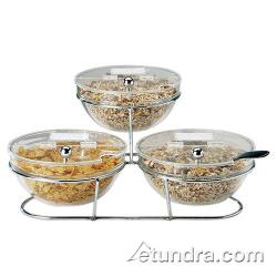 World Cuisine - 41442-14 - 3-Compartment Chrome Plated Stand w/Small Bowls image