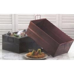 American Metalcraft - BEV820 - Full Size Rectangular Hammered Black Tub image