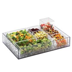 Cal-Mil - 1397-12 - 20 in x 7 in x 3 in Acrylic Cater Choice Tray image