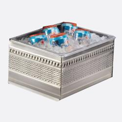 Cal-Mil - 475-10-55 - 10 in x 12 in Stainless Steel Ice Housing image