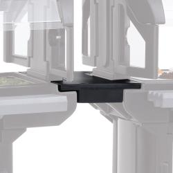 Cambro - VBRC110 - Black Straight Connector for Versa Food Bar® image